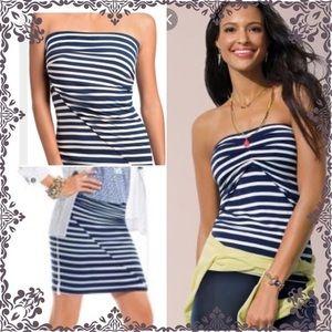 CABi strapless tube top skirt